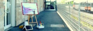 Abbildung Kunstbahnhof am Hausbahnsteig